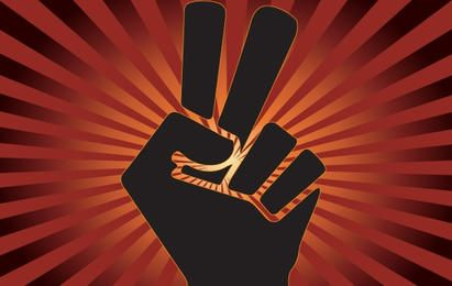 Peace and Overcome Sign with Finger