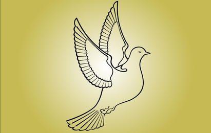 Linha Art Pombo Pássaro da Paz