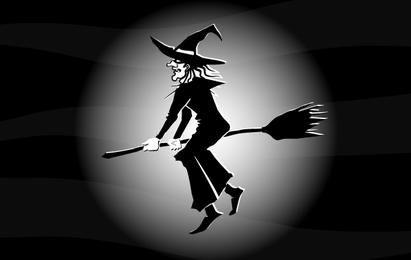 Bruxa Voadora Preto e Branco