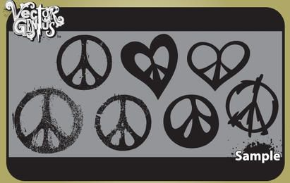 Vintage Peace Sign Pack