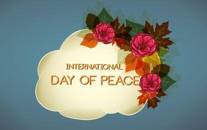 Design de florescer para o dia da paz