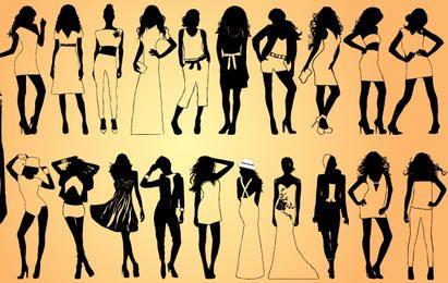 Chicas Modelo Pack Silueta