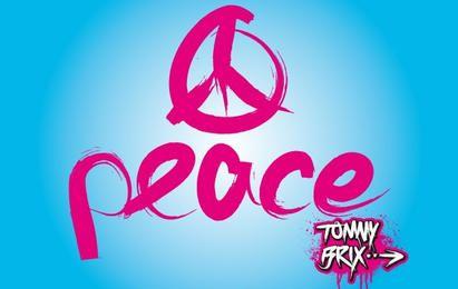 Diseño artístico del signo de la paz