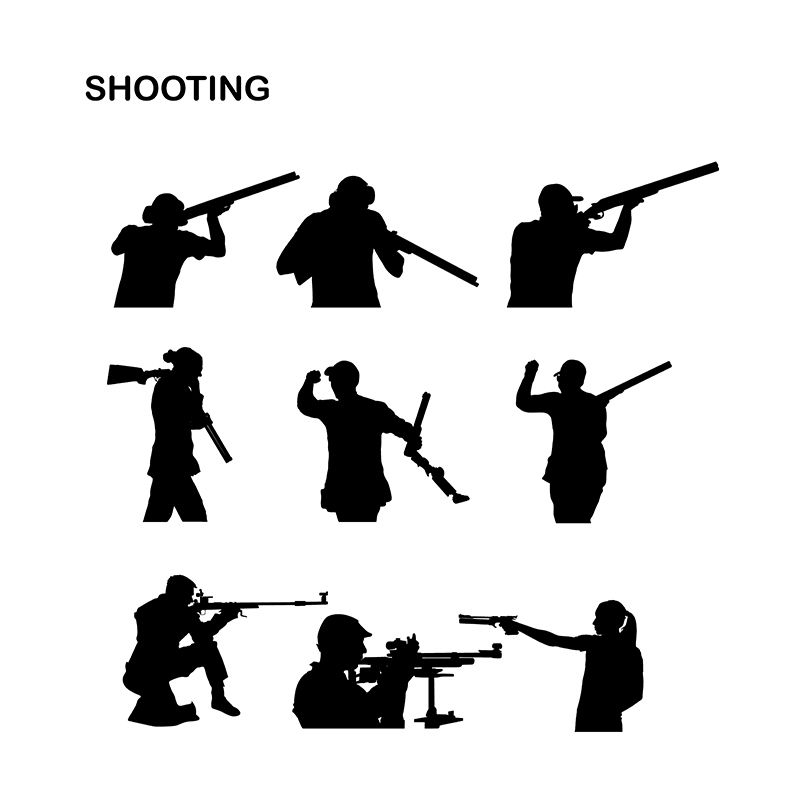 shooter amp sniper sport pack silhouette vector download