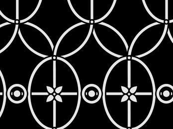 Vintage Curved Line & Circle Pattern