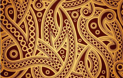 Espiral sem costura Vintage dourado padrão
