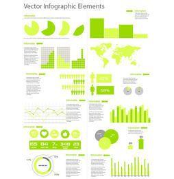 Flache Stilvorlage Infographik Satz