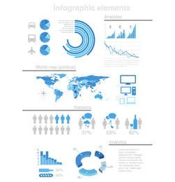 Statistic & Analytical Infographic Set