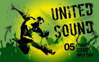 Grungy Green Musical Flyer