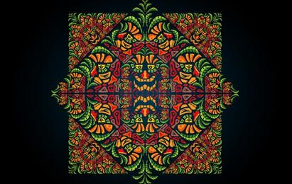 Psychedelic Aztec Style Ornament
