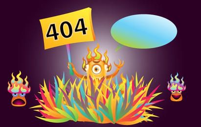 Monster 404 Error Illustration