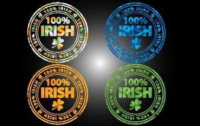 Grungy 100 Percent Irish Stamp