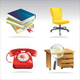 Pacote de equipamento de escritório abstrato