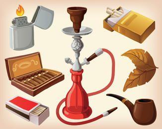 Estilo Elegante conjunto de equipamentos de fumar