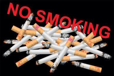 Cigarros destruídos sem mensagem de fumar