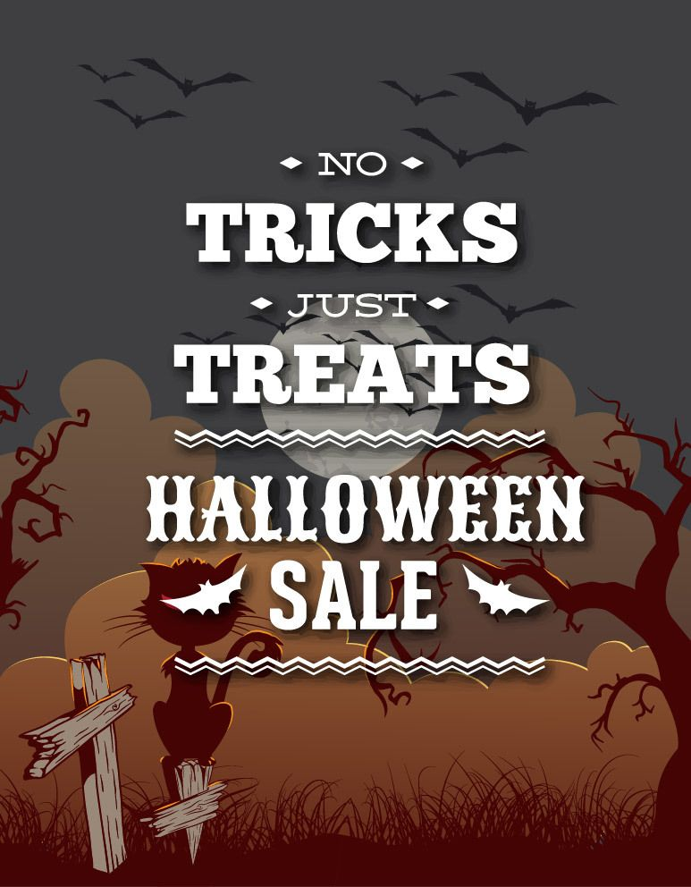 Halloween Vintage Sale Promos - Vector download