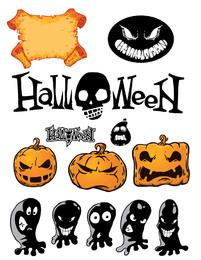 Funky Halloween Stuff Pack with Typography