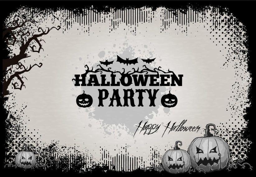 Plantilla Retro Grunge Tarjeta del feliz Halloween - Descargar vector