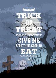 Árbol cazado en el cementerio Halloween Flyer