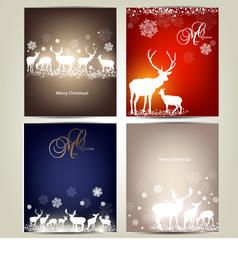 Template Christmas Card Pack