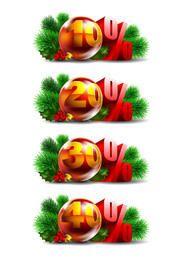 Pack promocional de decoración de bolas navideñas