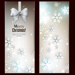 Banners de Navidad brillantes con estilo