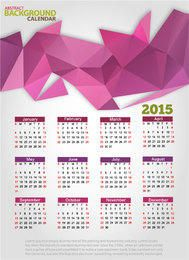 Triangular Polygon Abstract 2015 Calendar