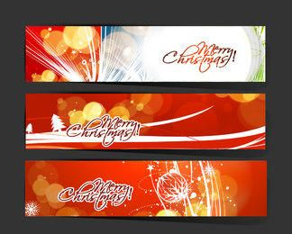3 Christmas Banners with St6ylish Typography
