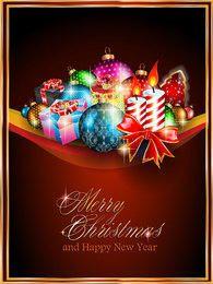 Modelo de cartão de saudação de Natal elegante