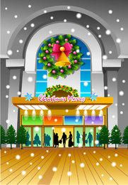 Christmas Eve Front Door Shopping Mall Decoration