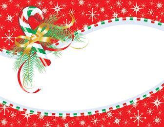 Stripy Candy Frame Christmas Card