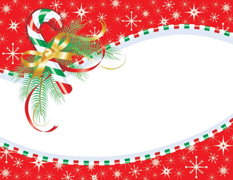Stripy Candy Frame Christmas Card - Vector download