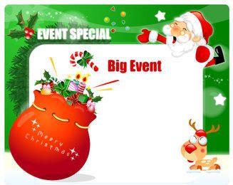 Santa Holding Einladungskarte mit Geschenkpackung