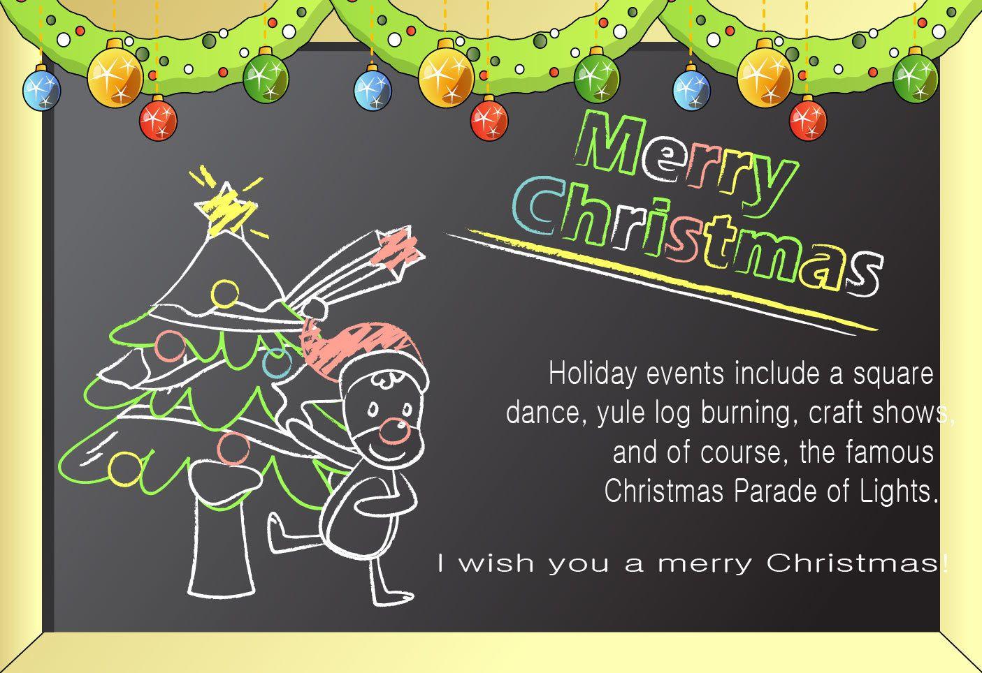 Line art chalkboard cartoon christmas card vector download image user m4hsunfo