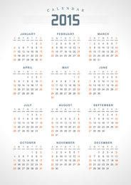2015 Highlighted Weekend Classic Calendar
