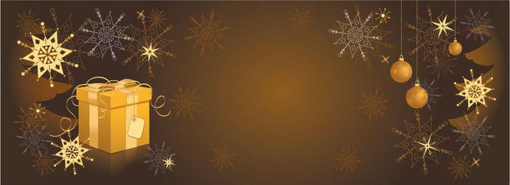 Decorative Golden Christmas Header