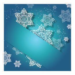 Etiquetado de invitación de Navidad turquesa con copo de nieve