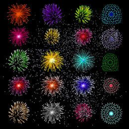 Large Pack of Colorful Firework