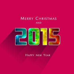 2015 colorido poligonal textura año nuevo tipografía
