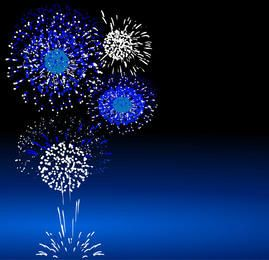 Blue Splashed Firework Pack
