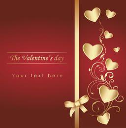 Tarjeta de San Valentín Corazones y Cinta