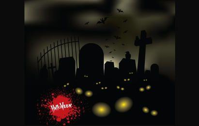 Horror Halloween Graveyard Tema