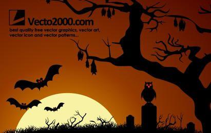 Noche oscura de Halloween encantada