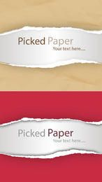 Realistic Torn Ripped Picked Paper