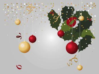 Weihnachtslayout mit Mistel und Dekorationen