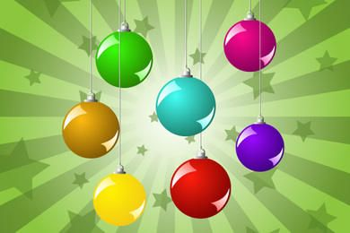 Pack de bolas de navidad de colores brillantes