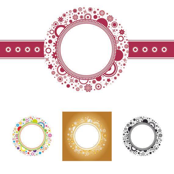 Modelo del marco floral redondeado - Descargar vector