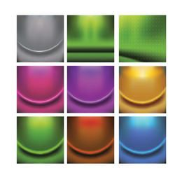 Abstract Colorful Detailed Wrinkled Background Set