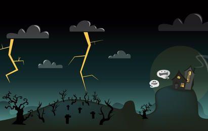 Arte de Halloween de dibujos animados