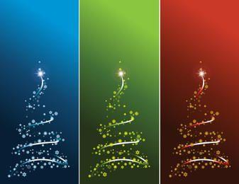 Decorado Swirly Árvore de Natal com flocos de neve